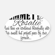 Emmett and Rosalie Happily Ever Af Oval Car Magnet