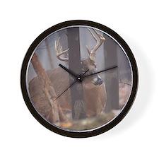 Buck Rub D1314-062 Wall Clock
