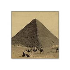 "Egyptian Pyramid Square Sticker 3"" x 3"""