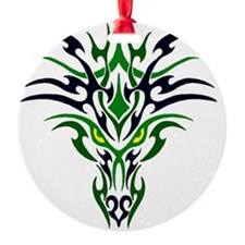 Two Toned Green Dragon Ornament