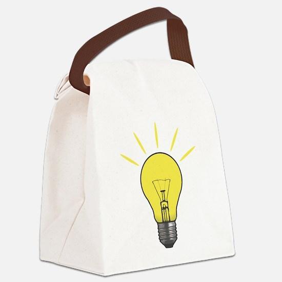 Bright Idea Light Bulb Canvas Lunch Bag