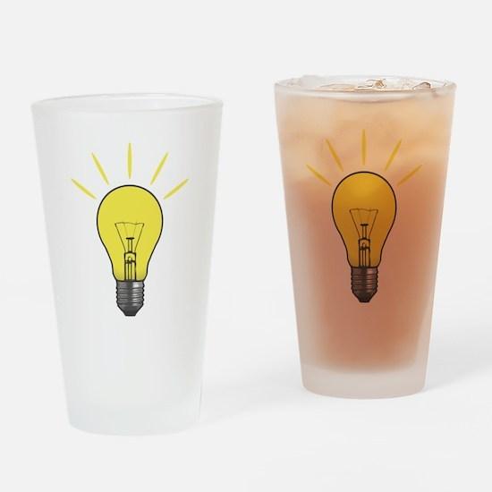 Bright Idea Light Bulb Drinking Glass