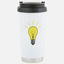 Bright Idea Light Bulb Stainless Steel Travel Mug