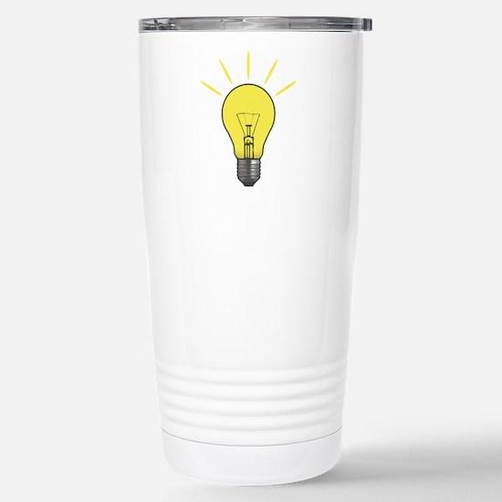 Bright Idea Light Bulb Stainless Steel Travel Mug