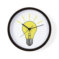 Bright Idea Light Bulb Wall Clock