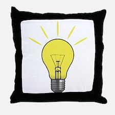 Bright Idea Light Bulb Throw Pillow