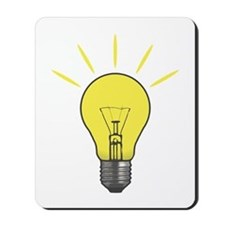Bright Idea Light Bulb Mousepad