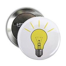 """Bright Idea Light Bulb 2.25"""" Button"""