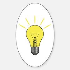 Bright Idea Light Bulb Sticker (Oval)
