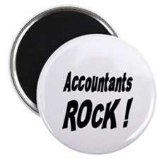 "Accountants Rock ! 2.25"" Magnet (100 pack)"