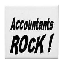 Accountants Rock ! Tile Coaster