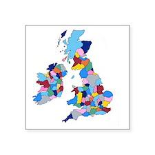 """England, Ireland, Scotland  Square Sticker 3"""" x 3"""""""