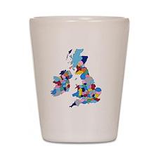 England, Ireland, Scotland Wales Shot Glass