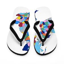 England, Ireland, Scotland Wales Flip Flops