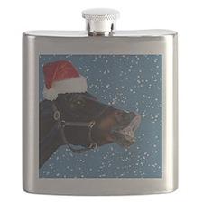 Fun Christmas Horse Flask