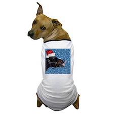Fun Christmas Horse Dog T-Shirt