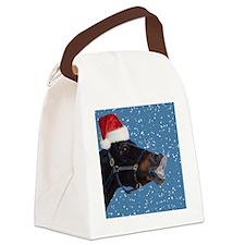 Fun Christmas Horse Canvas Lunch Bag