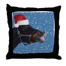 Fun Christmas Horse Throw Pillow