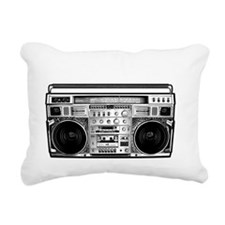BOOM BOX OLD SCHOOL Rectangular Canvas Pillow