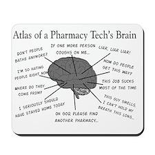 Atlas of a pharmacy techs brain Mousepad