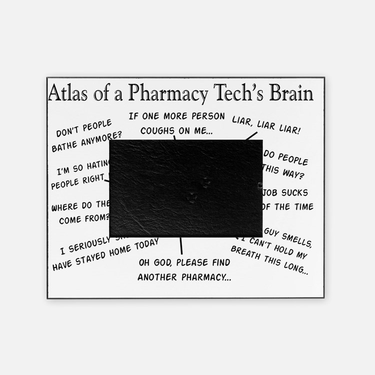 Atlas of a pharmacy techs brain Picture Frame