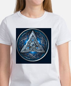 Norse Valknut Tapestry - Blue Tee