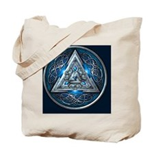 Norse Valknut Tapestry - Blue Tote Bag