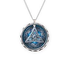 Norse Valknut - Blue Necklace
