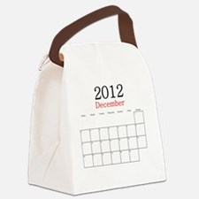 December 2012 Calendar Canvas Lunch Bag