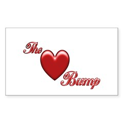 The Love Bump Rectangle Decal