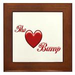 The Love Bump Framed Tile