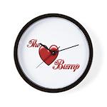 The Love Bump Wall Clock