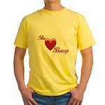 The Love Bump Yellow T-Shirt