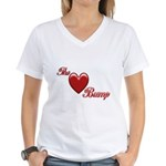 The Love Bump Women's V-Neck T-Shirt