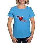 The Love Bump Women's Dark T-Shirt