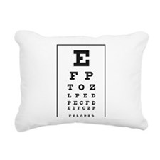 Black and white illustra Rectangular Canvas Pillow