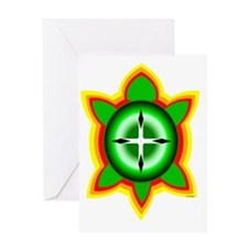 SOUTHEASTERN TRIBAL TURTLE Greeting Card