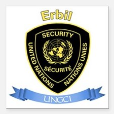 "UNGCI Sector Erbil Square Car Magnet 3"" x 3"""