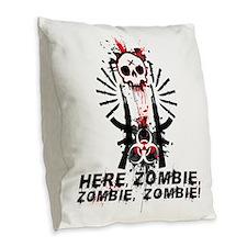 Here zombie,zombie Burlap Throw Pillow