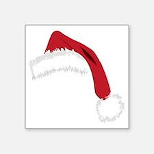 "Santa Hat  Square Sticker 3"" x 3"""