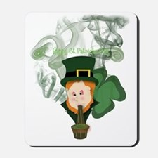 Smoking Leprechaun Mousepad