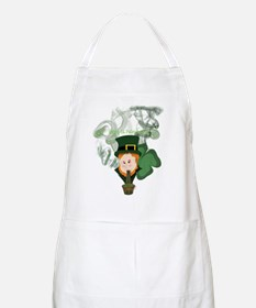 Smoking Leprechaun Apron