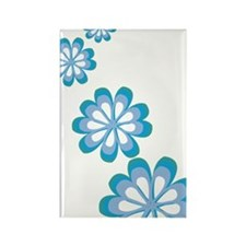 Groovy Flowers Rectangle Magnet