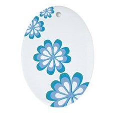 Groovy Flowers Oval Ornament