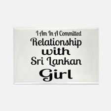 I Am In Relationship With Sri Lan Rectangle Magnet