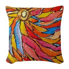 sunrise on the farm 102412a Woven Throw Pillow