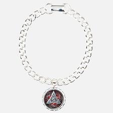 Norse Valknut - Red Bracelet