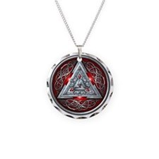Norse Valknut - Red Necklace
