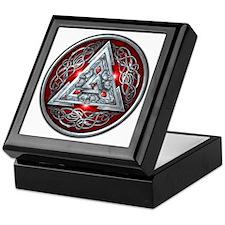 Norse Valknut - Red Keepsake Box