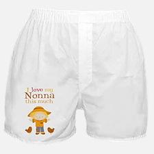 Scarecrow I Love Nonna Boxer Shorts